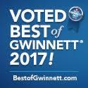 Voted Best of GWinnett 2017! BestofGwinnett.com