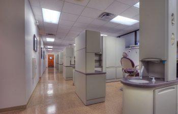 Gwinett Family Dental Care corridor on the right dental chair