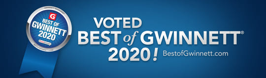 Voted Best of Gwinnett 2020!
