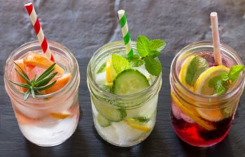 Water With Fruit in a Glass